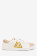 Ochre Lace-Up Triangle Trainers