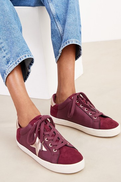 Berry Forever Comfort Star Lace-Up Trainers